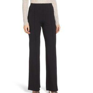 Leith Black Ponte Knit Wide Leg Flare Pants NWT